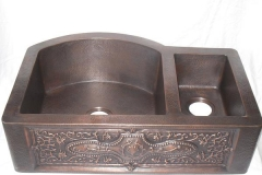 copper farm sink 1512-H 33229