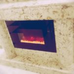 Custom Made Quartz Fireplace