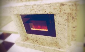 CUSTOM QUARTZ FIREPLACE