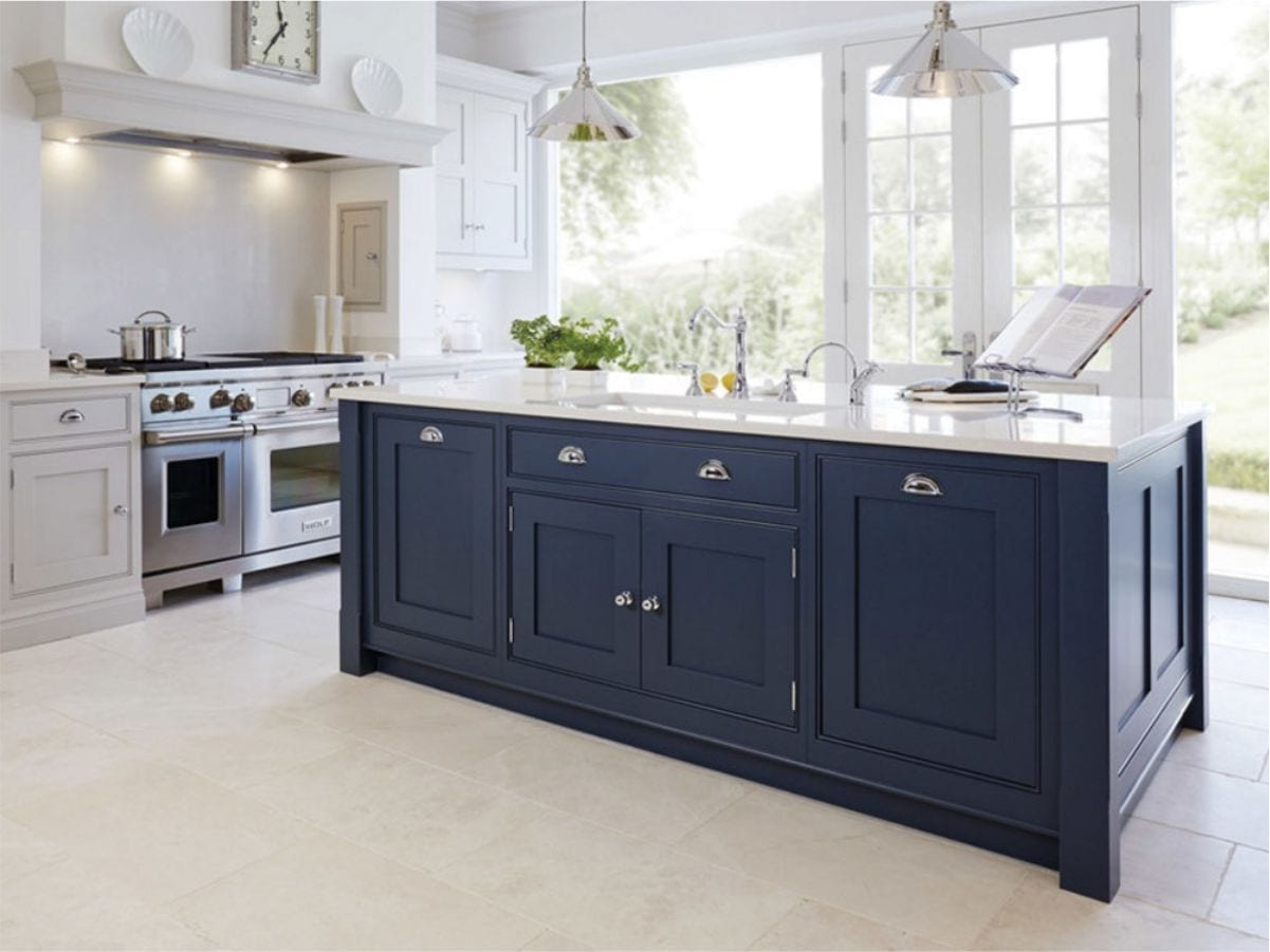 Modern era shaker blue cabinets at supreme international USA tampa orlando