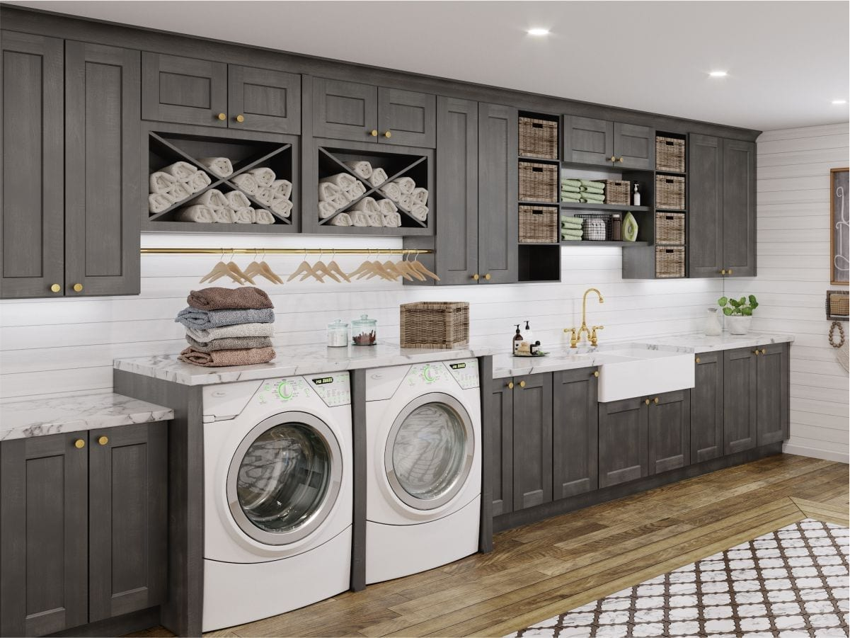 Shaker Cinder is new dark color cabinets which gives the modern touch in your kitchen & bathroom. Buy today from supreme international USA Tampa & Orlando