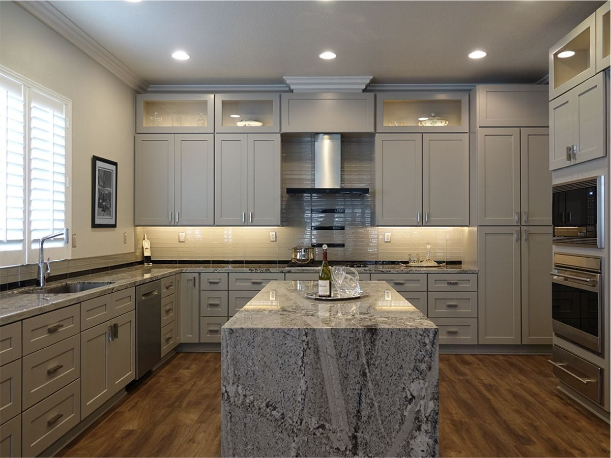 Supreme International USA Shaker Grey Kitchen Cabinets in Tampa & Orlando