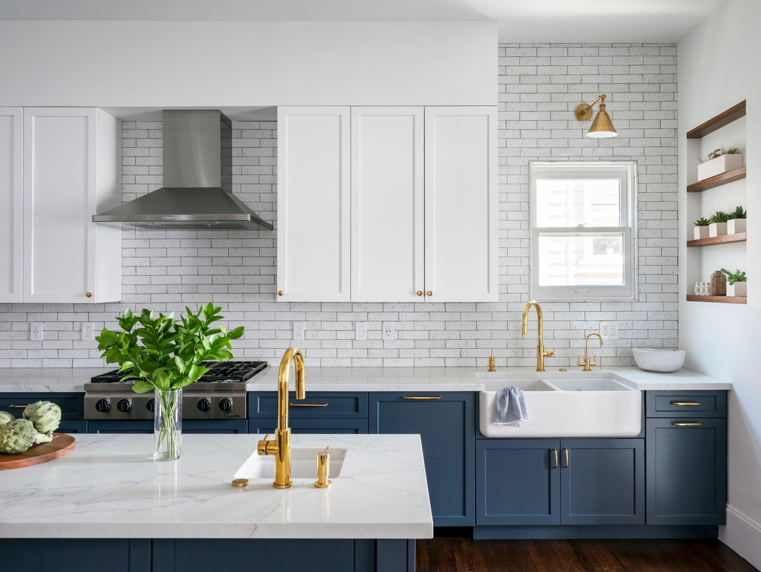 Supreme International USA Shaker Blue Kitchen Cabinets 6